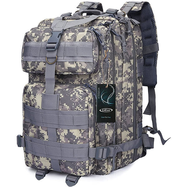 ACU Digital Zipper Closure Backpack