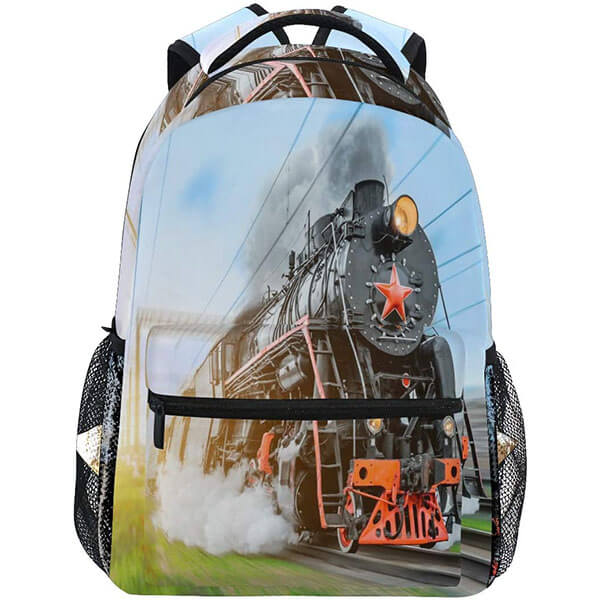 Moving under the Sky Train Backpack