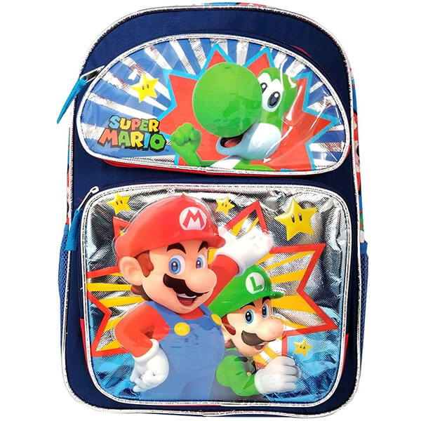 3D Middle School Super Mario Backpack