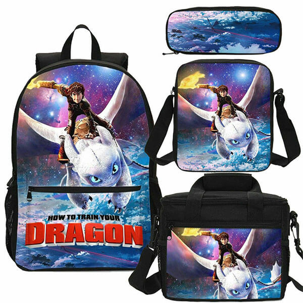 Light Fury Backpack Set with Lunch Bag