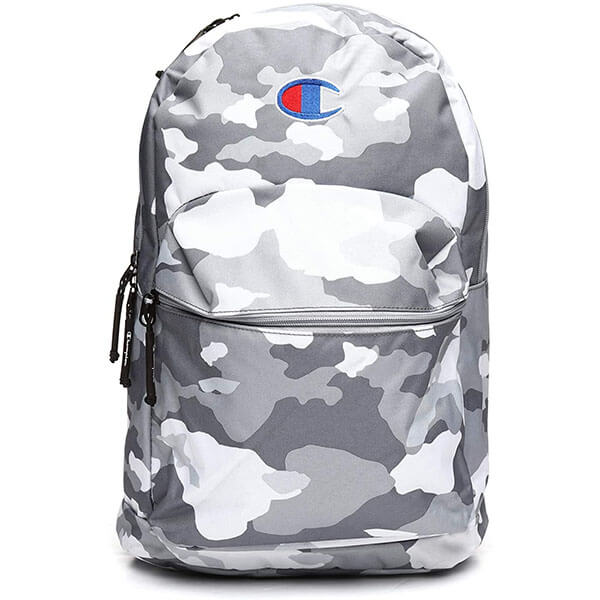 Camouflage Backpack with Embroidered Logo
