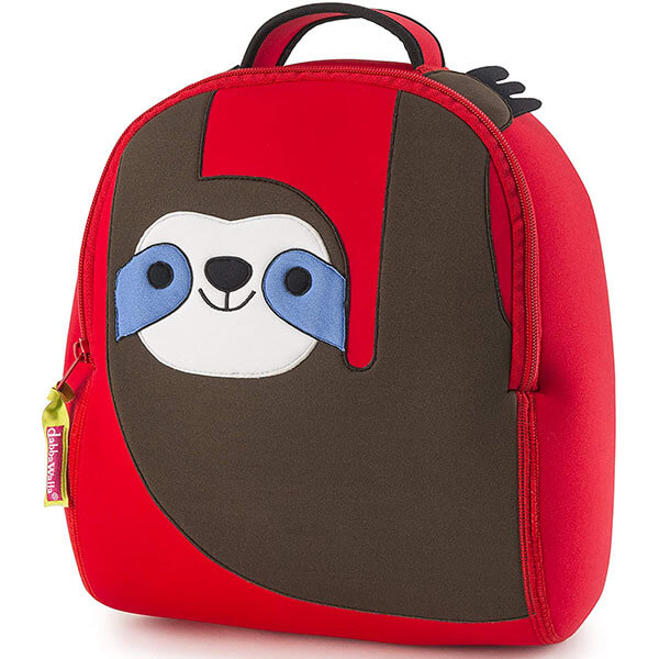 Soft Red Preschool Sloth Bookbag