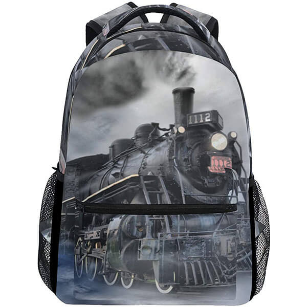 Black and Grey Colored Camping Backpack