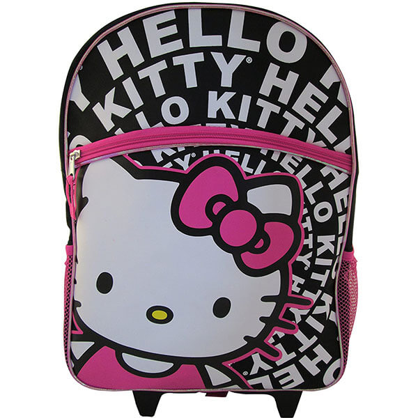 Glitter Accented Hello Kitty Wheel Backpack