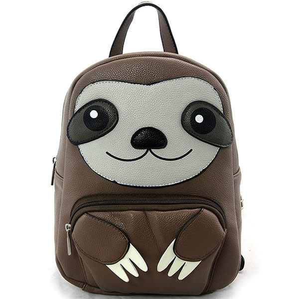 Sleepy-Ville Critters Vinyl Sloth Backpack