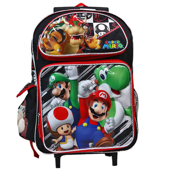 Mario with Friends Rolling Backpack