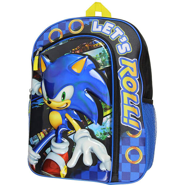 Molded Iridescent Sonic The Hedgehog Backpack