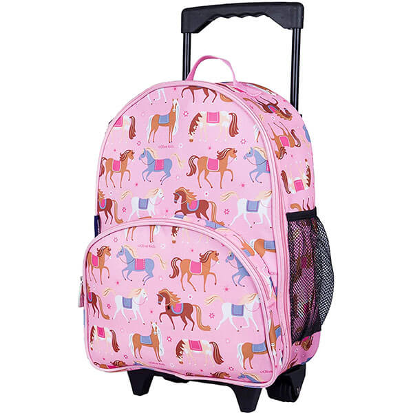 Playful Horse Themed Rolling Backpack