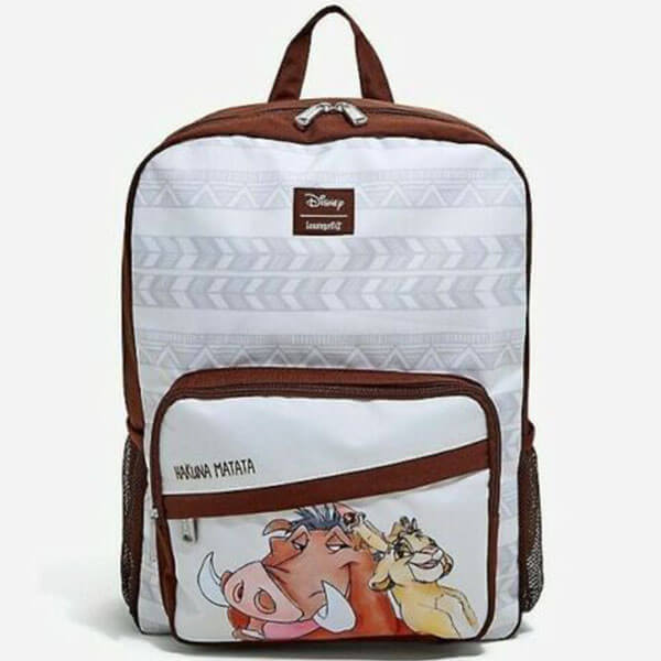 Simba and Timon White Base Backpack