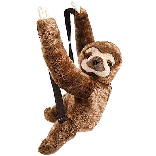 Super-Soft Cuddly Sloth Plush Backpack