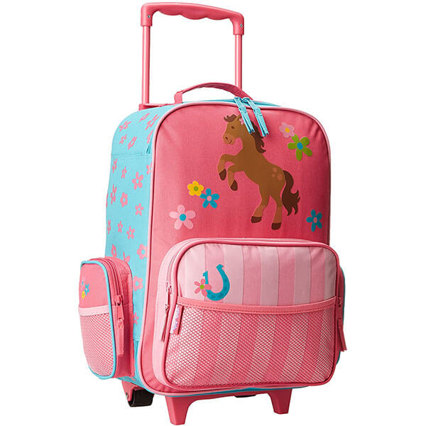 Classic Baby Pink Smart Luggage Backpack