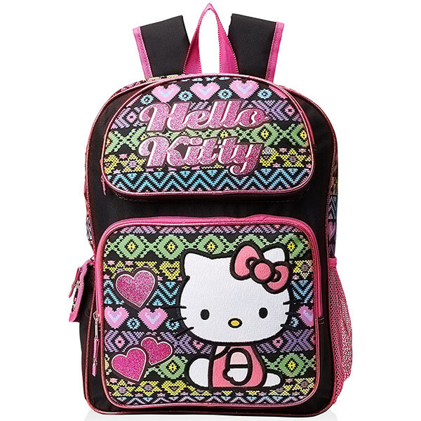 Patchwork Heart Hello Kitty Backpack
