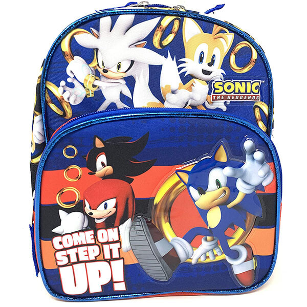 Sonic Characters with Golden Ring Backpack