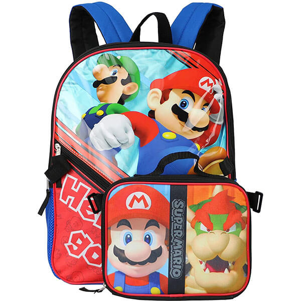 Super Mario Backpack with Lunch Box