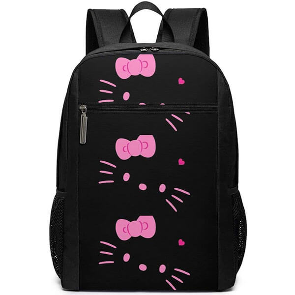 Hello Kitty Black Head College Backpack