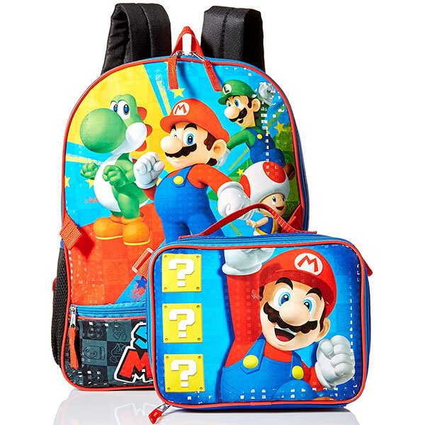 Mario Kart Backpack and Lunch Bag