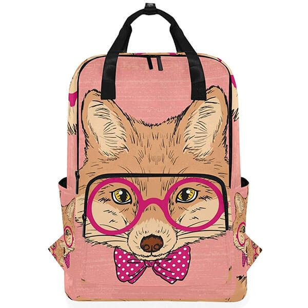 Pink Fashion Fox Avatar School Backpack