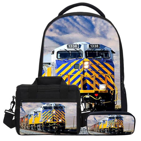 Steam Locomotive Backpack Set for Boys