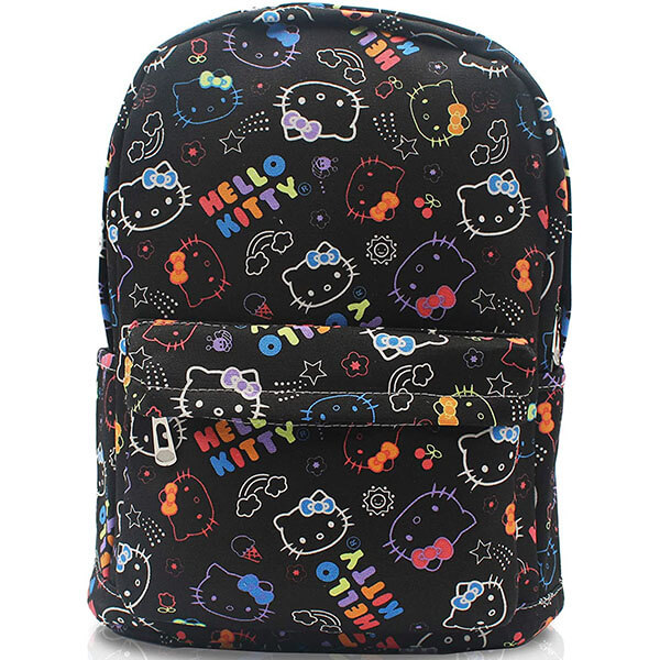 All Over Print Hello Kitty Canvas Backpack