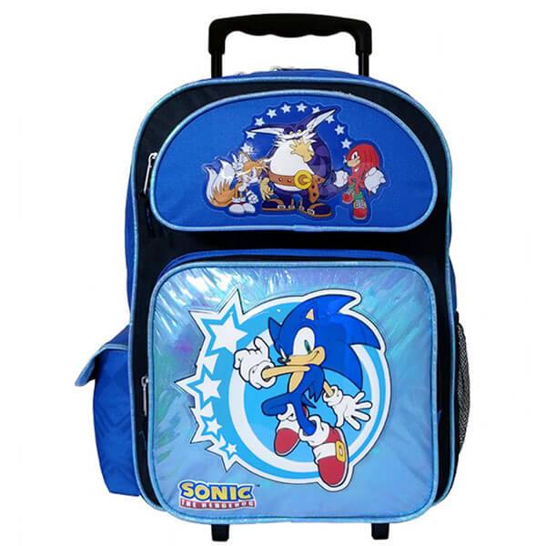 Blue Sonic Smooth Rolling Backpack