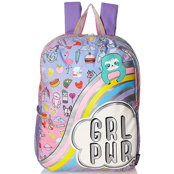 Girl Power Rainbow Sloth Backpack for Teens