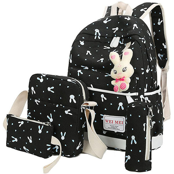 Rabbit Backpack 4 Set with Extra Rabbit Key Ring