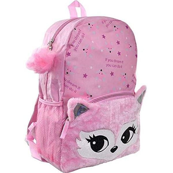 Sweet Plush Fox Backpack for Girls