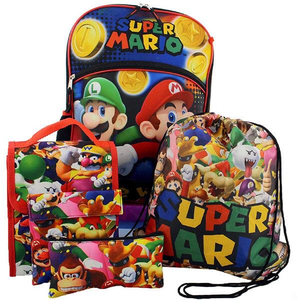 5 in 1 Super Mario 3D Backpack Set