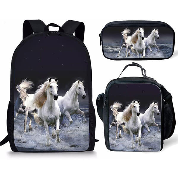 Horse Race in the Water Backpack for Teens