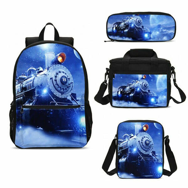 Magical Blue Color Engine Themed Backpack
