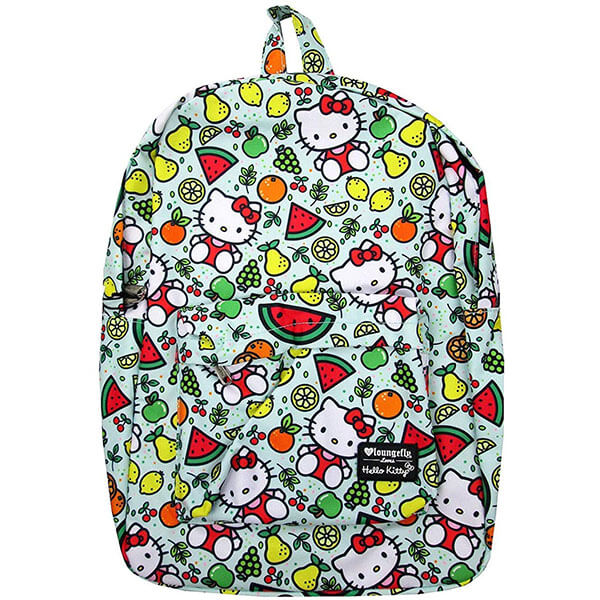 All Over Fruit Print Hello Kitty Backpack