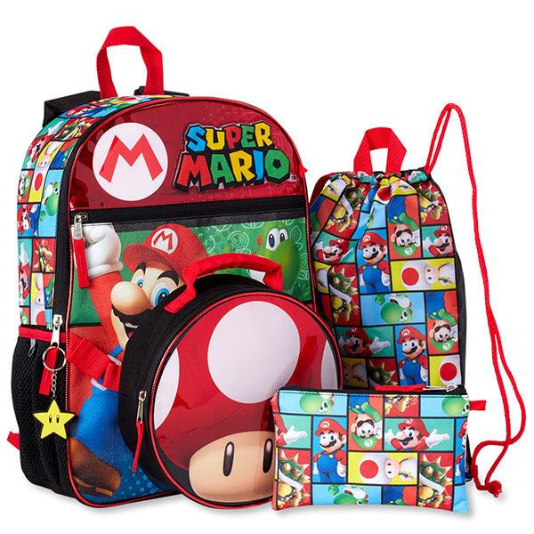 Super Mario Four Piece Backpack Set
