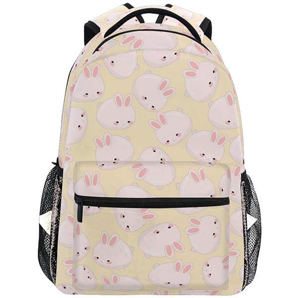 Florida White Bunny Print Backpack