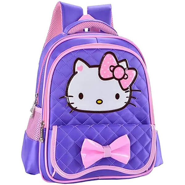 Purple Backpack with Fashionable Front Pocket