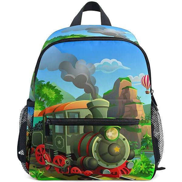 Steam Train Passing Mountains Backpack