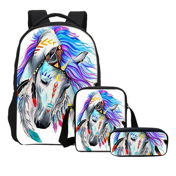 Artistic Animal Printed Laptop Book Bag