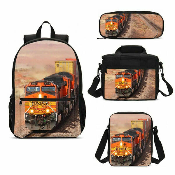 Cargo Train Laptop Backpack for Adolescents