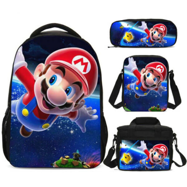 Flying Mario All in One Backpack Set