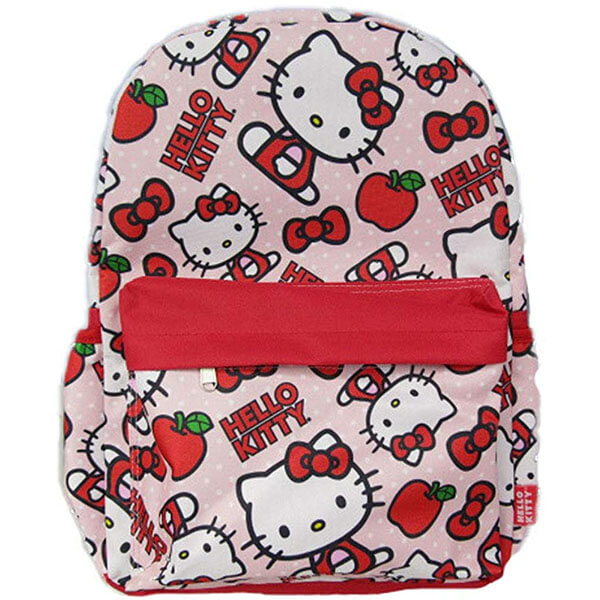 Hello Kitty Backpack with Red Apple Print