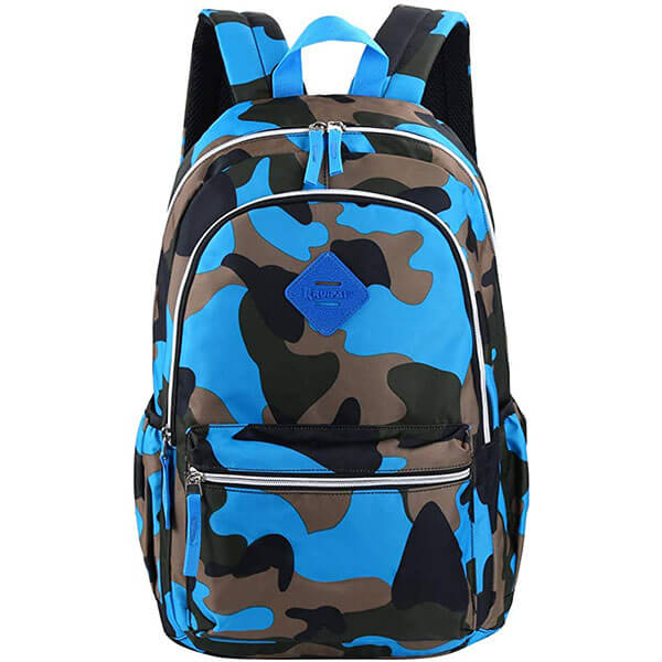 Ultra Smooth Zipper Camouflage Backpack