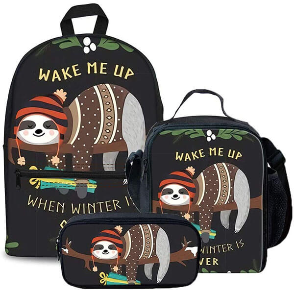 3 PCS Wear-resistant Sloth Backpack Package