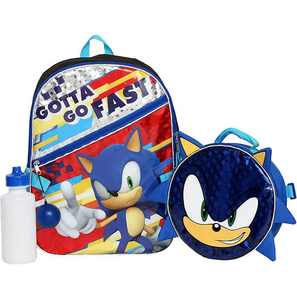 Sonic Backpack with Small Blue Pompom