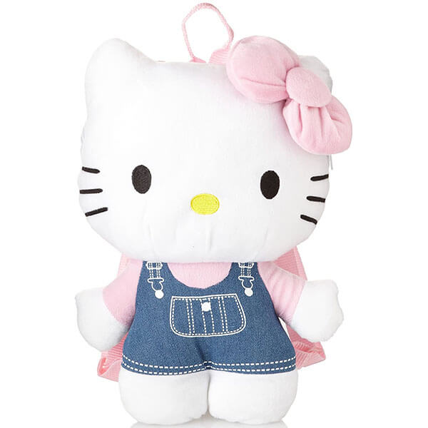 Hello Kitty Plush Cartoon Girls Backpack
