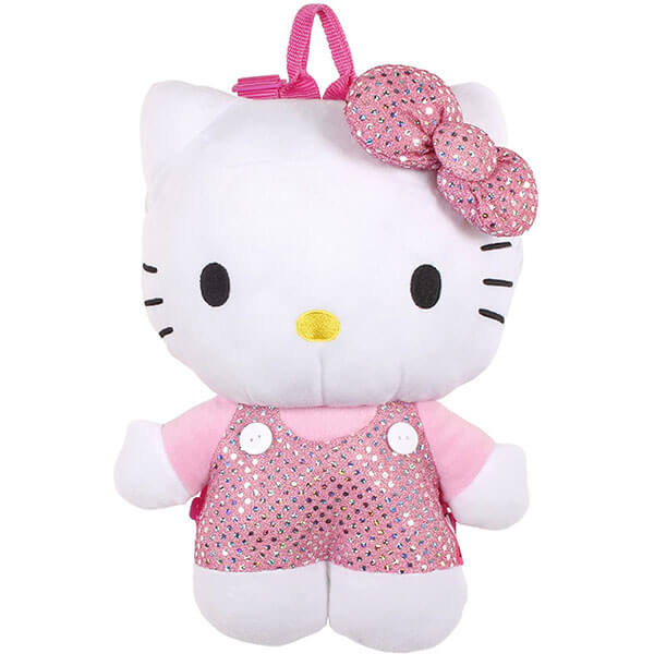 Plush Hello Kitty Backpack with Sequin Bow