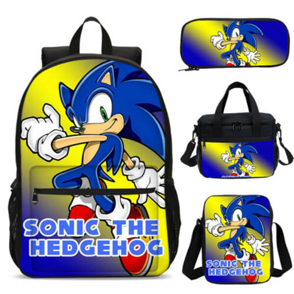 Eye soothing Yellow and Blue Color Sonic Backpack Set