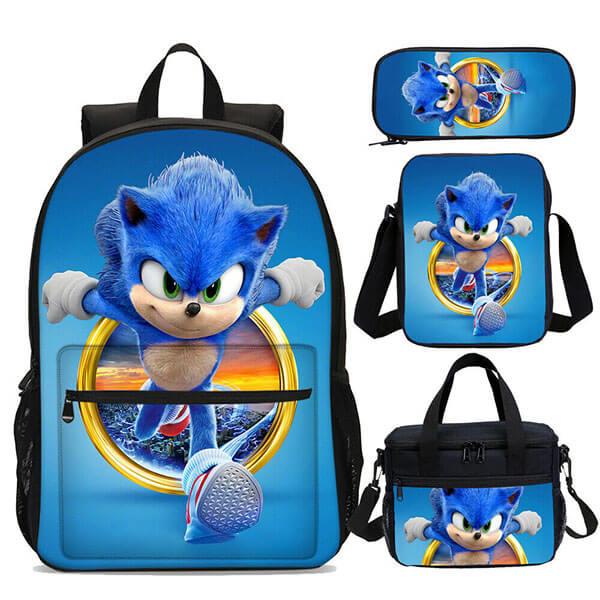 Grade Schooler Sonic Backpack Set
