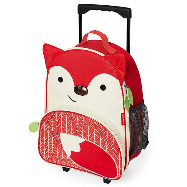 Lightweight Rolling Cartoon Fox Backpack