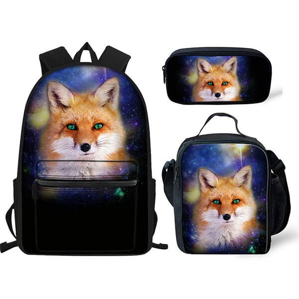 Anti-Scratch Black Color Fox Backpack