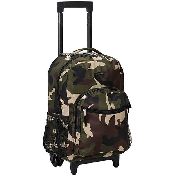 Double Skate Wheels Rolling Backpack