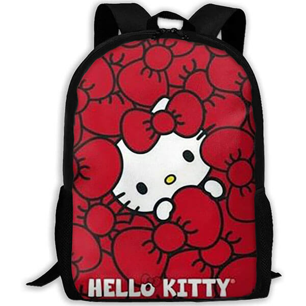 Water Resistant Hello Kitty Red Backpack